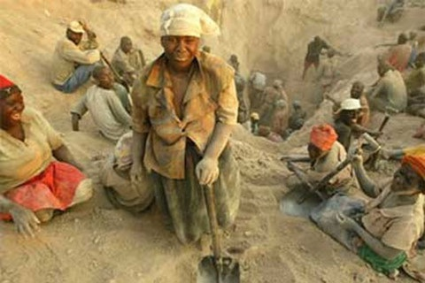 Không nhiều người dân châu Phi được hưởng lợi từ nguồn xuất khẩu kim cương trong nước