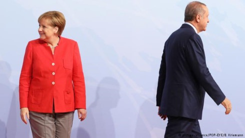 Thủ tướng Đức Angela Merkel và Tổng thống Thổ Nhĩ Kỳ Recep Tayyip Erdogan