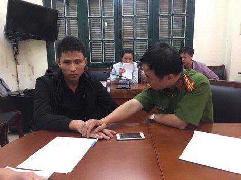 Đối tượng Phạm Thanh Tùng tại cơ quan điều tra.