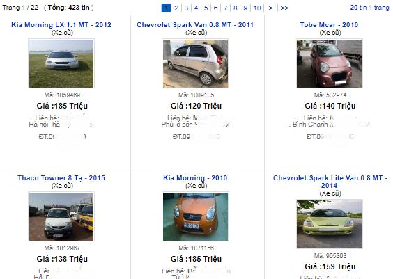 Giảm giá không phanh, xe cũ giá tầm 100 triệu đồng rao bán ồ ạt - 1