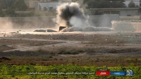 IS tấn công xe ủi của SAA