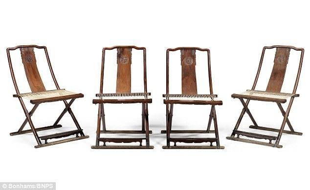 Bộ ghế gấp bằng gỗ sưa từ triều đại nhà Minh (Trung Quốc) đã được bán với mức giá khủng