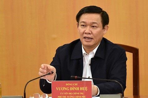 Phó Thủ tướng Vương Đình Huệ phát biểu tại buổi làm việc. Ảnh: VGP/Nhật Bắc