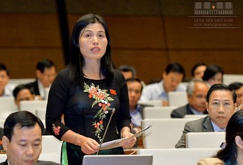 Đại biểu Hồ Thị Minh (đoàn Quảng Trị) -ảnh: Cổng TTĐT Quốc hội