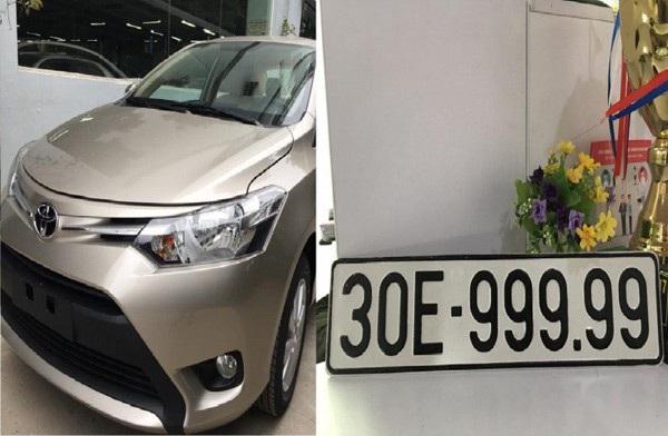 Theo một nguồn tin, chiếc Toyota Vios biển số 30E-999.99 đã được bán với số tiền lên tới 1,6 tỷ đồng