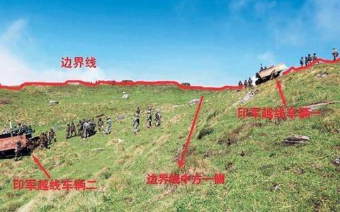 Lính biên phòng Ấn Độ và Trung Quốc đối đầu cách nhau 150m và nhìn nhau chằm chằm tại Doklam hồi tháng 8.