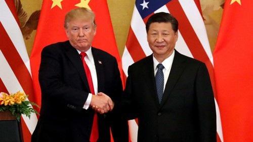 Tổng thống Donald Trump gặp Chủ tịch Tập Cận Bình tại thủ đô Bắc Kinh - Trung Quốc hồi tháng 11-2017 Ảnh: REUTERS