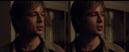 """Vào vai một """"dị nhân"""" trẻ lại theo thời gian trong tác phẩm """"The curious case of Benjamin Button"""", Brad Pitt không chỉ có những biến hoá xuất thần về mặt diễn xuất mà ngay cả gương mặt trẻ trung cùng năm tháng của nam tài tử cũng thực sự là một phép màu. Công nghệ CGI đã giúp Brad Pitt dễ dàng hoá thân thành một chàng thanh niên mặt """"búng ra sữa"""" dù khi ấy, nam tài tử đã ở độ tuổi U40."""