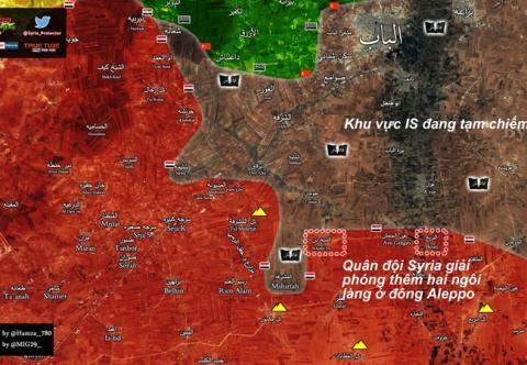 Lực lượng Tigers giải phóng thêm hai làng Breaj và Shaykh Dan ở Aleppo