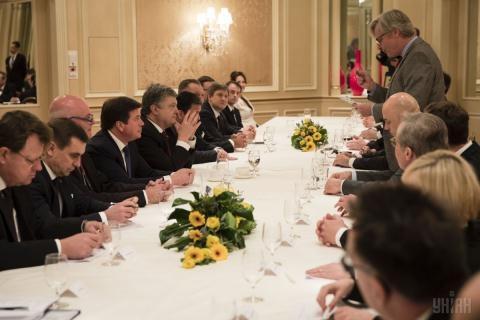 Một cuộc họp của Tổng thống Ukraine với lãnh đạo NATO.