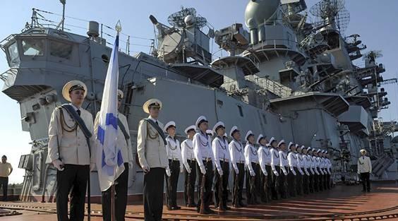 Tàu tuần dương hạng nặng mang tên lửa hạt nhân Pyotr Veliky của Nga tại Tartus-Địa Trung Hải