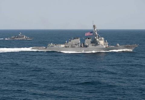 Chiến hạm Aegis của Mỹ.