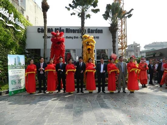 Lễ khai trương căn hộ mẫu dự án Riverside Garden, số 349 Vũ Tông Phan, phường Khương Đình, quận Thanh Xuân, Hà Nội.