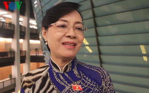 Đại biểu Quốc hội TPHCM Nguyễn Thị Quyết Tâm (Ảnh: Ngọc Thành)