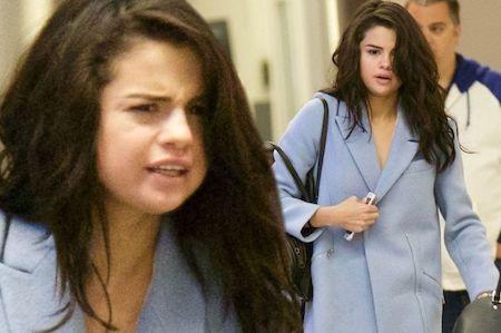 Selena Gomez lộ vẻ mệt mỏi tại sân bay