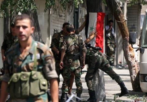 Binh sĩ Quân đội Syria tại Damascus