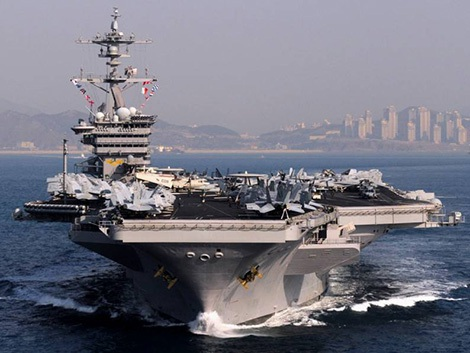 Tàu sân bay Mỹ tới Busan tham gia diễn tập với quân đội Hàn Quốc. Ảnh: seaforces.org.