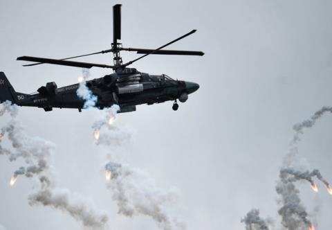 Trực thăng tấn công Ka-52 tiêu diệt IS ở Palmyra