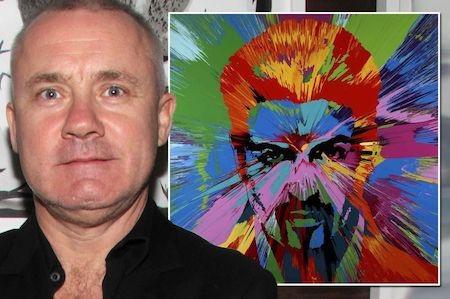 Tranh vẽ George Michael của Damien Hirst vừa được rao bán