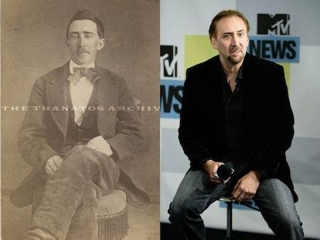 Hồi năm 2011, các fan hâm mộ đã được một phen kinh ngạc khi chiêm ngưỡng bức hình xưa cũ của một người đàn ông mang tên Robert M. Smith nhưng lại có ngoại hình giống hệt với nam tài tử Nicolas Cage. Sau sự việc, nhiều người còn đùa vui rằng Nicolas Cage thực chất là một ma cà rồng trẻ mãi không già khiến cho nam tài tử phải lên hẳn truyền hình giải thích rằng mình chỉ là người trần mắt thịt.