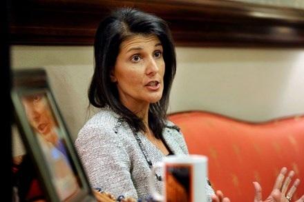 Đại sứ Nikki Haley cho biết Mỹ tìm kiếm giải pháp chính trị cho cuộc chiến Syria hơn là tập trung vào tương lai của Tổng thống Bashar al-Assad. Ảnh: Reuters