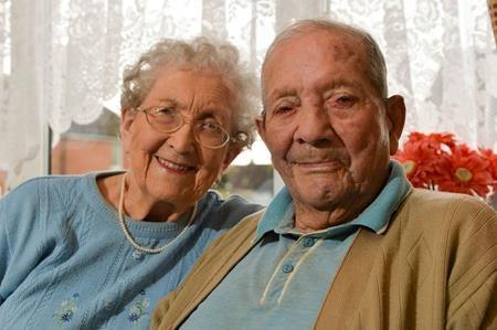 Ông George và bà Phyllis đã sống chung được 77 năm