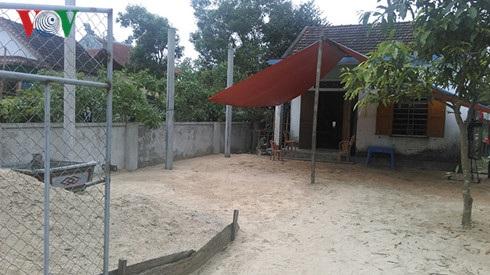 Ngôi nhà nhỏ của ông Nguyễn Tiến Đường (nơi 3 chị em Sáng đang ở nhờ).