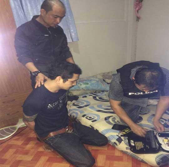 Phuangphee bị bắt tại nhà người thân ở huyện Khlung. Ảnh: DAILY NEWS