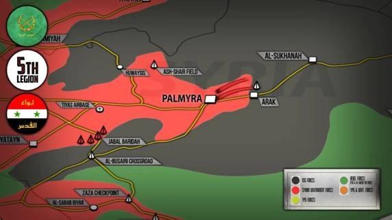 Al-Sukhanah tuyến phòng thủ đầu tiên phía Tây Deir Ezzor của IS
