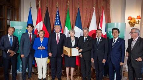 Các lãnh đạo G7 ra tuyên bố chung nhắc đến Biển Đông, Biển Hoa Đông.