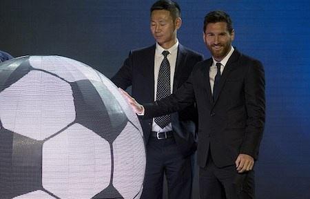 Lionel Messi vừa họp báo giới thiệu công viên mang tên mình