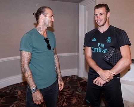 Beckham vừa ghé thăm các cầu thủ của Real Madrid