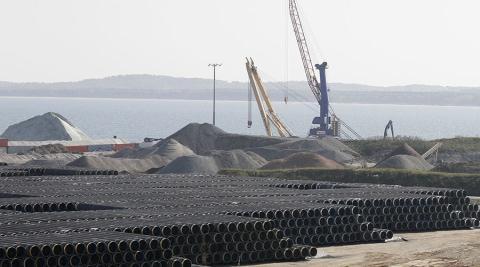 Các ống dẫn khí đốt từ Nga tới Đức trong dự án đường ống năng lượng mới vượt biển.