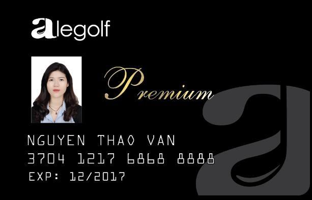 Hình ảnh Thẻ Hội viên Alegolf Premium