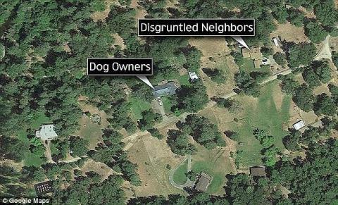Khoảng cách giữa hai hộ gia đình trên bản đồ vệ tinh