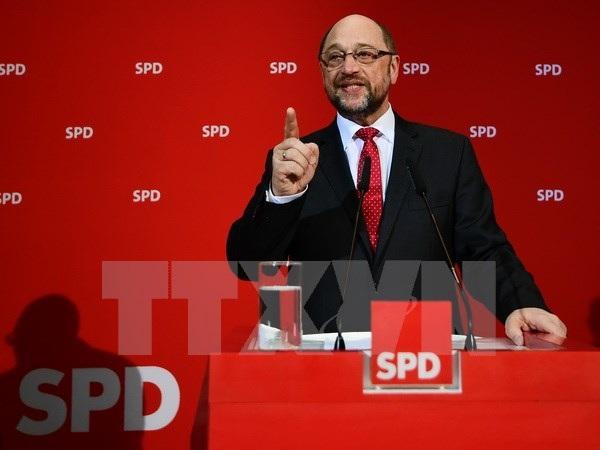 Ông Martin Schulz phát biểu sau khi kết quả bầu cử tại Saarland được công bố. (Nguồn: AFP/TTXVN)