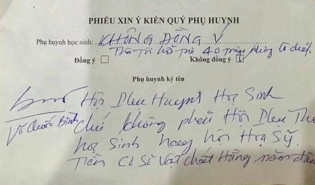 Anh Võ Quốc Bình, ông bố ở TPHCM đã thẳng thắn từ chối khi Hội phụ huynh lớp đề xuất đóng tiền lót sàn gỗ.