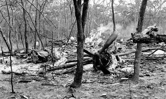 Máy bay chở ông Hammarskjold rơi gần khu vực Ndola ở Bắc Rhodesia (nay là Zambia). Ảnh: AP