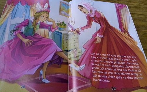 Hình minh họa phản cảm trong cuốn Cô bé Lọ Lem không được cấp phép xuất bản