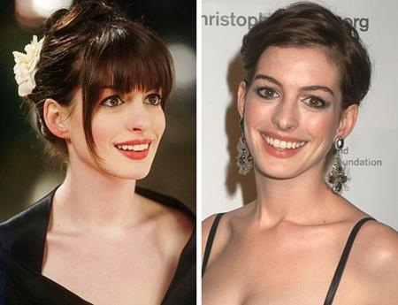 Anne Hathaway hóa ra từng có thời để tóc mái trẻ trung, đáng yêu cỡ này