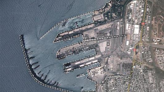 Cảng Tartus tại Syria. Ảnh: GOOGLE MAPS