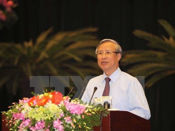 Ông Trần Quốc Vượng phát biểu chỉ đạo hội nghị. (Ảnh: Thanh Vũ/TTXVN)