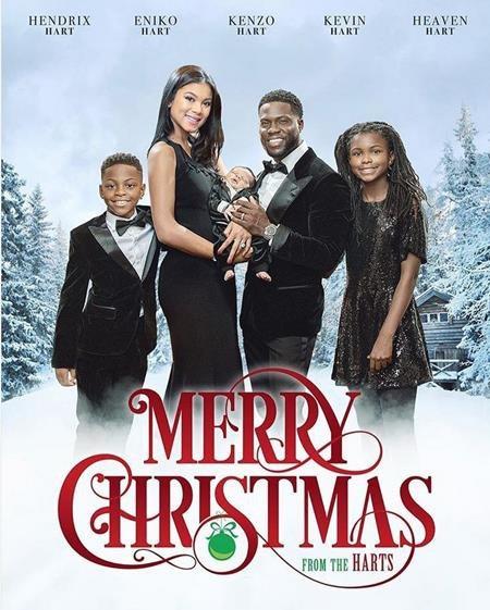 """Danh hài Kevin Hart đã khiến rất nhiều fans thích thú khi đưa cả gia đình vào tờ """"áp phích"""" quảng cáo cho bộ phim """"Giáng sinh vui vẻ"""""""