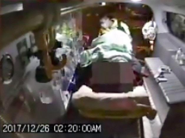 Ông Wang nhập viện vào lúc 2 giờ 20 phút sáng