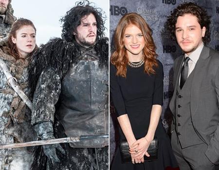 """Series phim đình đám """"Game of Thrones"""" cũng đã làm """"ông mai"""" cho hai diễn viên Rose Leslie và Kit Harington."""