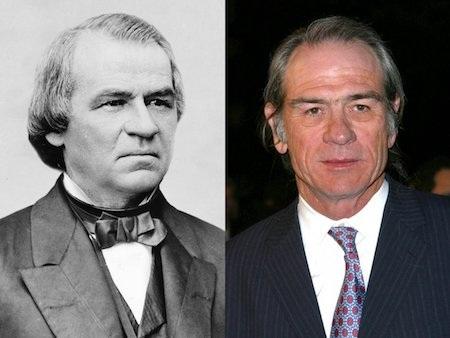 Trong khi đó, Tommy Lee Jones lại có nhiều nét gợi nhắc tới Tổng thống Abraham Lincoln.