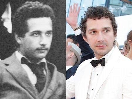 Chiêm ngưỡng hình ảnh thời trai trẻ của Albert Einstein, nhiều người sẽ phải ngạc nhiên khi nhận ra điểm tương đồng giữa nhà khoa học thiên tài và nam tài tử Shia Labeouf.
