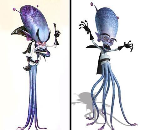 """Gallaxhar trong """"Monsters vs. Aliens"""" đã được các họa sĩ trang bị thêm cho rất nhiều chân để thêm phần… vững chắc khi lên phim"""