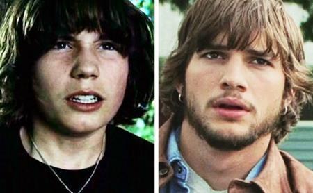 """Cùng thể hiện vai diễn Evan Treborn trong """"The butterfly effect"""", trông John Patrick Amedori và Ashton Kutcher cũng có nhiều điểm khá giống nhau"""
