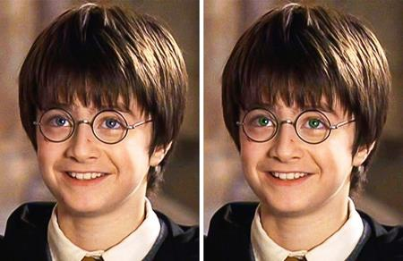 Cậu bé phù thủy Harry Potter trong truyện đã được thừa hưởng cặp mắt xanh lá tuyệt đẹp từ mẹ